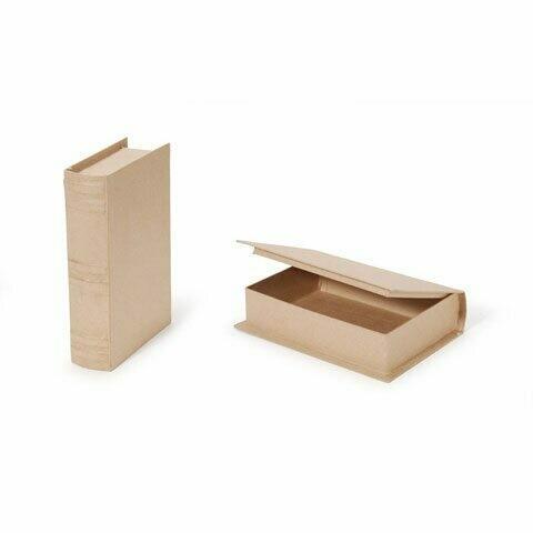 Paper Mache  Book Box 9.75 x 6.5 x 2.25