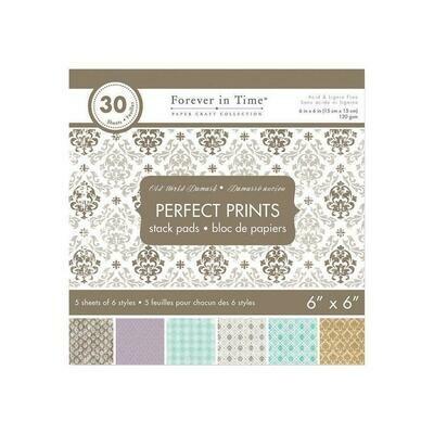 Old World Damask 6 x 6 Paper Pad (30 sheets)
