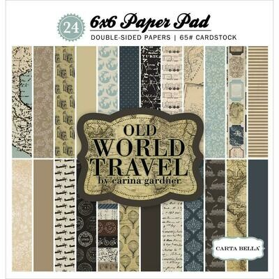Old World Travel 6 x 6 Paper pad (24 sheets)