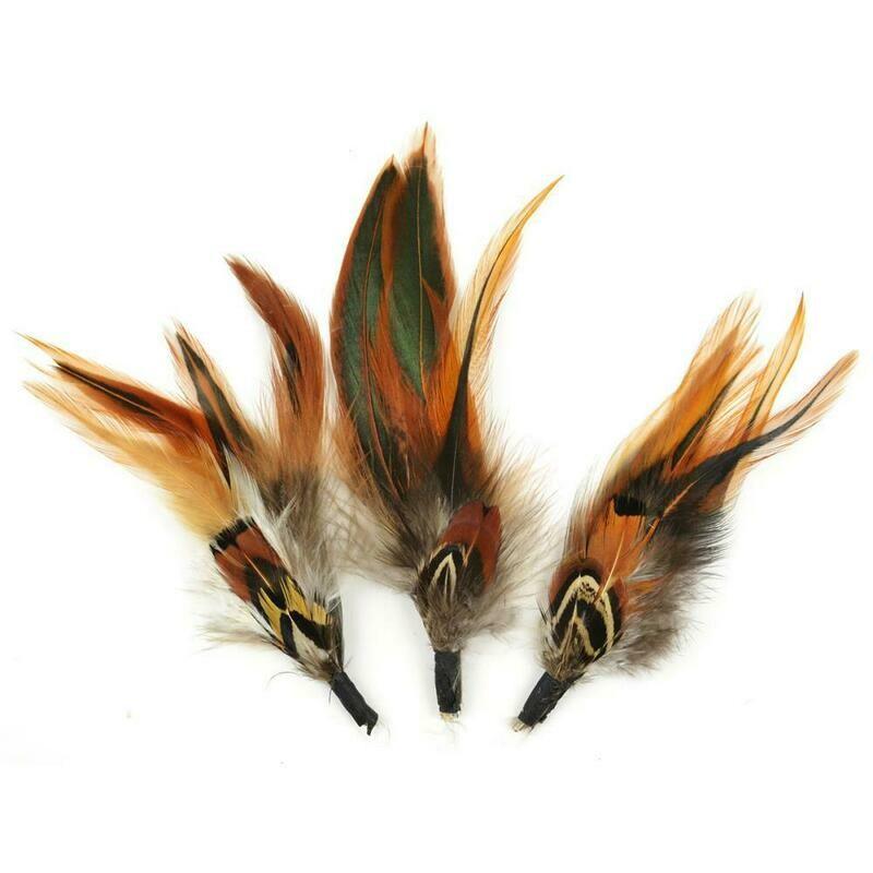 Natural Feather Pick light brown, dark brown, black