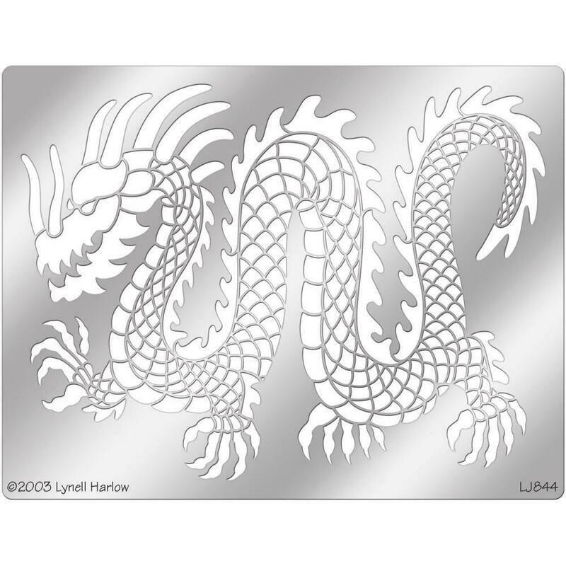 Metal Stencil Dragon