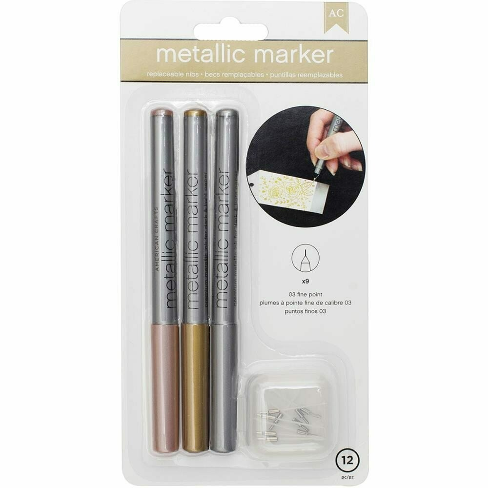 Metallic Marker Set Fine Point (3)