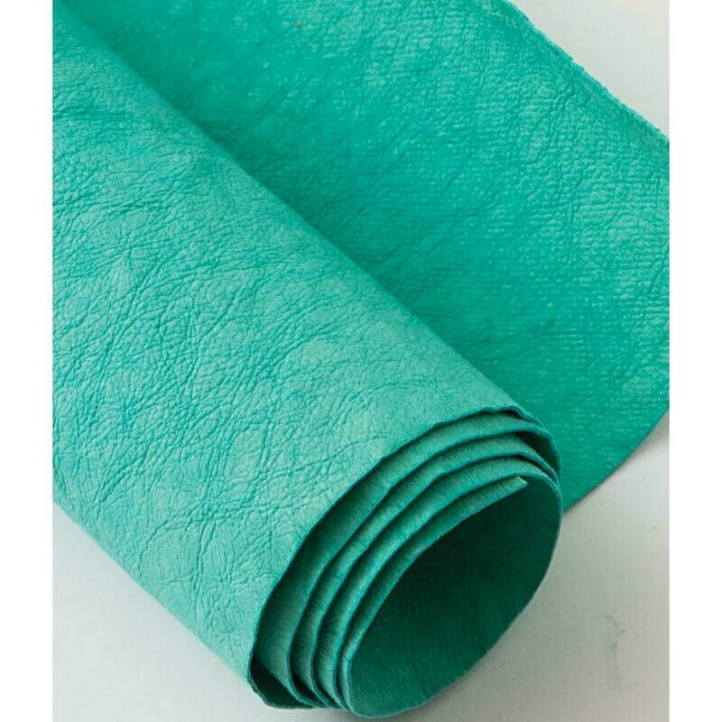 Kraft-tex Kraft Paper Fabric Roll- Blue Turquoise 18.5