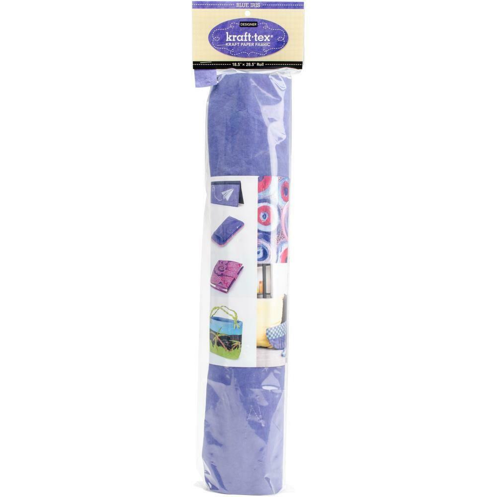 Kraft-tex Kraft  Paper Fabric Roll- Blue 18.5