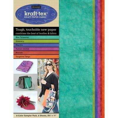 Kraft-tex Kraft Paper Fabric- Multi-color (6 colors/ 6 sheets total) 8.5