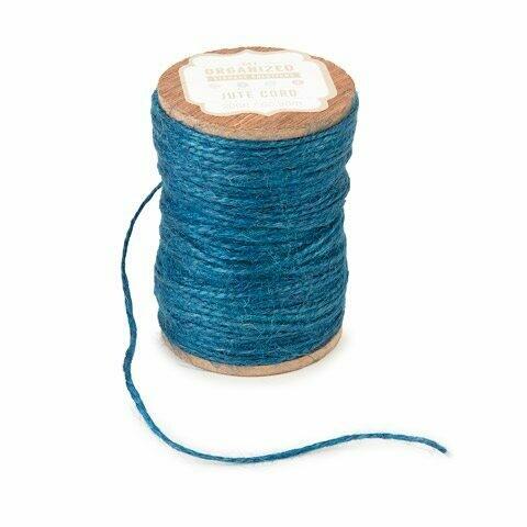 Jute Spool Cord- Blue 200 feet
