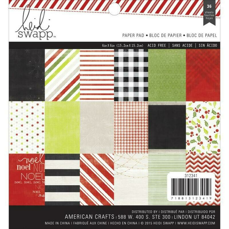 Heidi Swapp Oh What Fun Paper Pad 36 sheets
