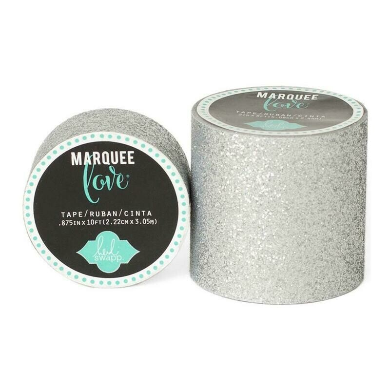 Heidi Swapp Marquee Tape- Silver 2 Inches