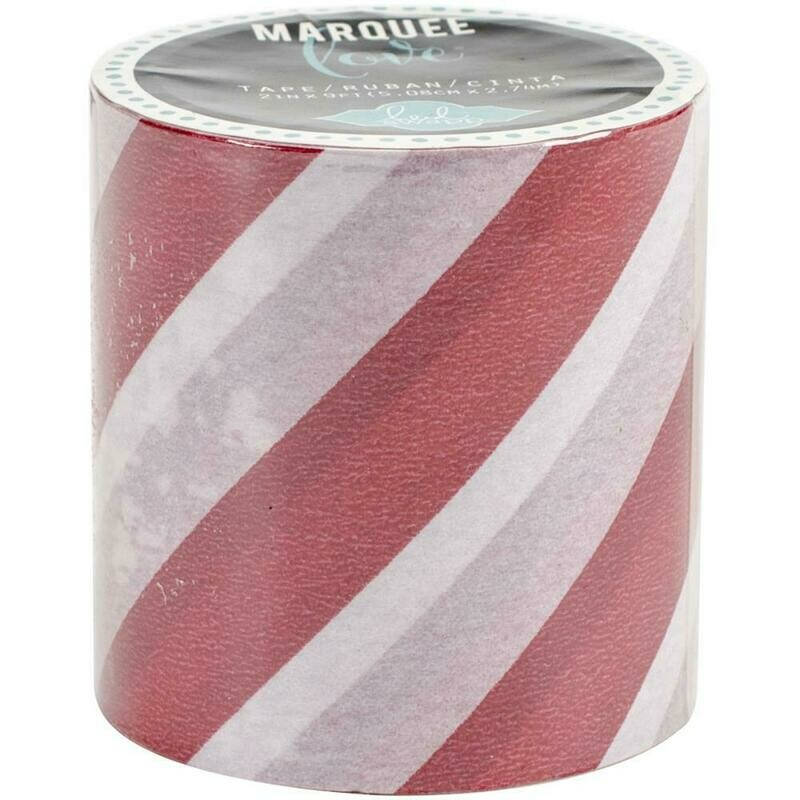 Heidi Swapp Marquee Tape- Red Stripe 2 Inches