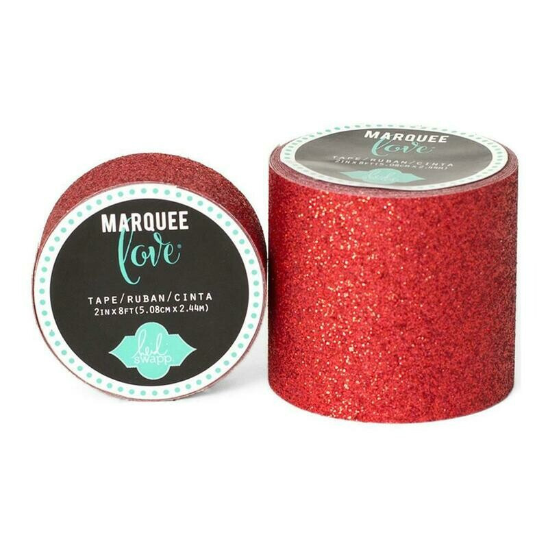 Heidi Swapp Marquee Tape- Glitter Red 2 Inches