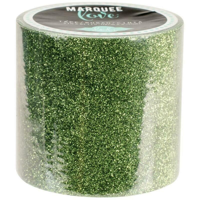 Heidi Swapp Marquee Tape- Glitter Dark Green 2 Inches