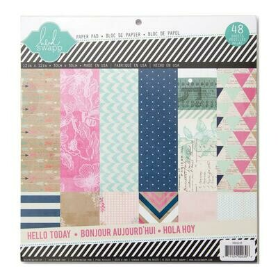 Heidi Swapp Hello to Paper 12 x 12 Paper  Pad