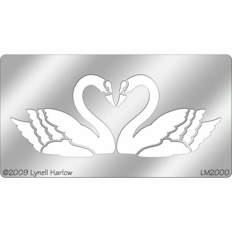 Heart Swan Metal Stencil