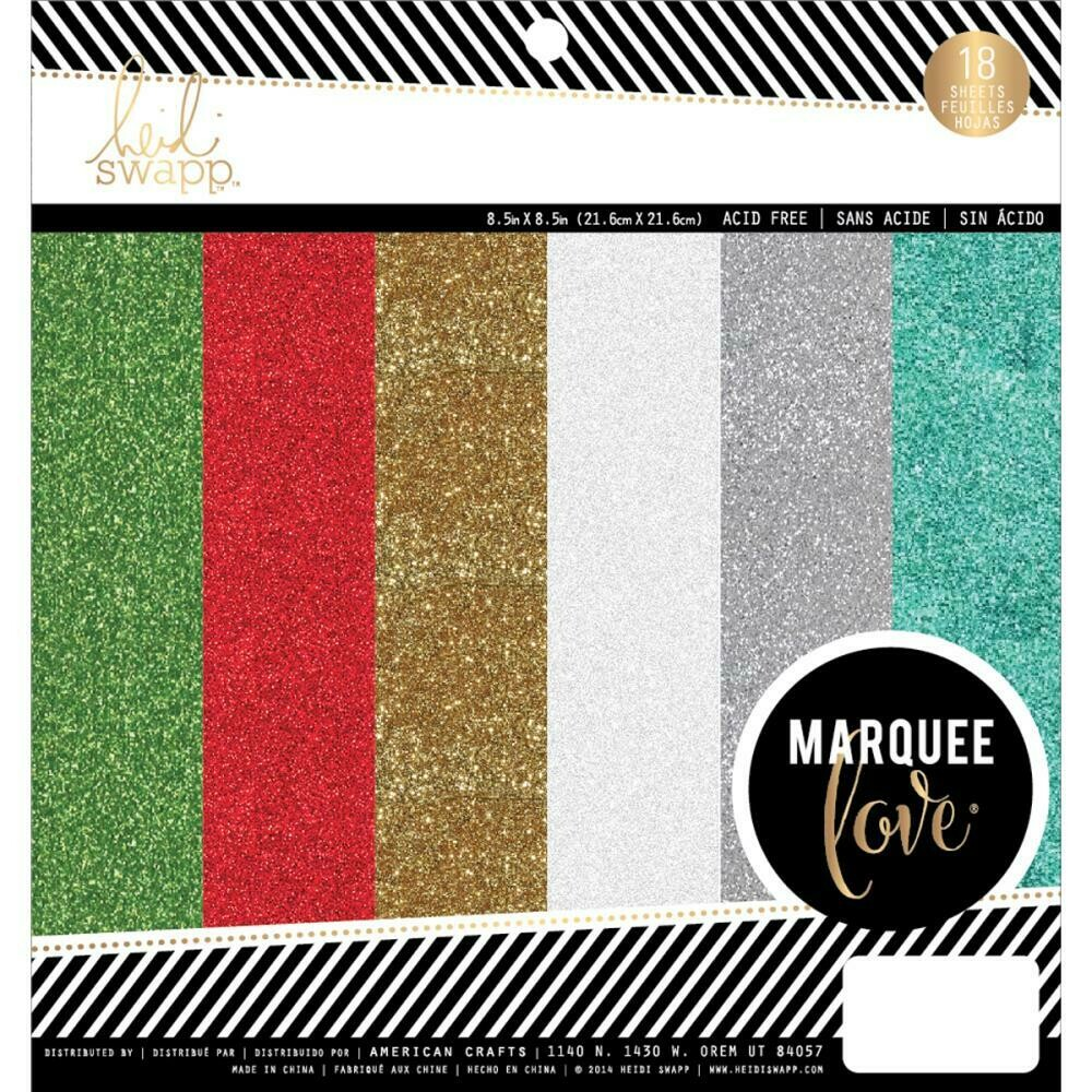 Glitter 8.5 inch Marquee Christmas Paper Pack