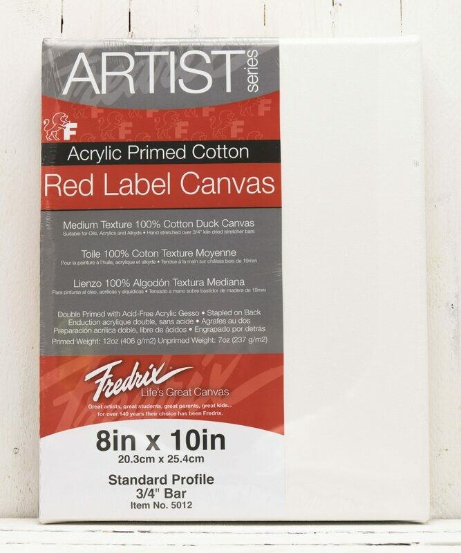 Fredrix Red Label Duck Canvas - 3/4