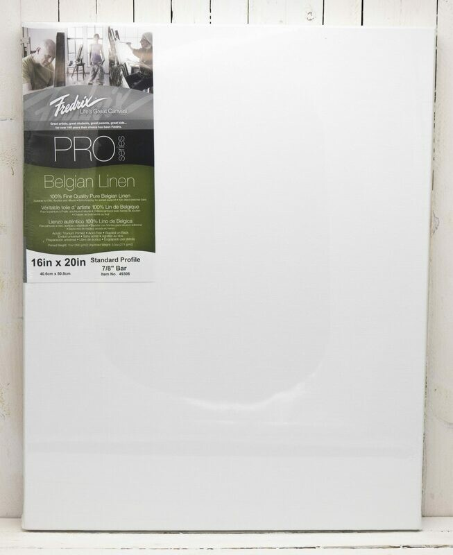 Fredrix Pro Series Belgian Linen Stretched Canvas - 16x20