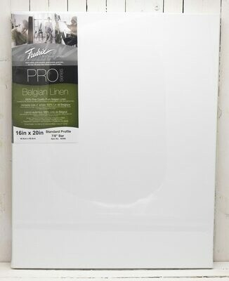 Fredrix Pro Series Belgian Linen Stretched Canvas - 16x20