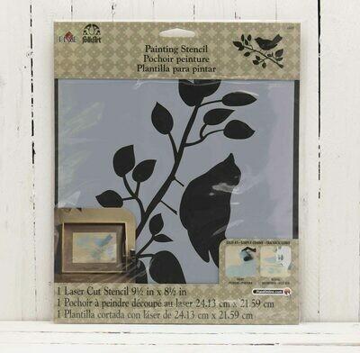 FolkArt® Painting Stencil - Bird - 8.5 x 9.5 inches