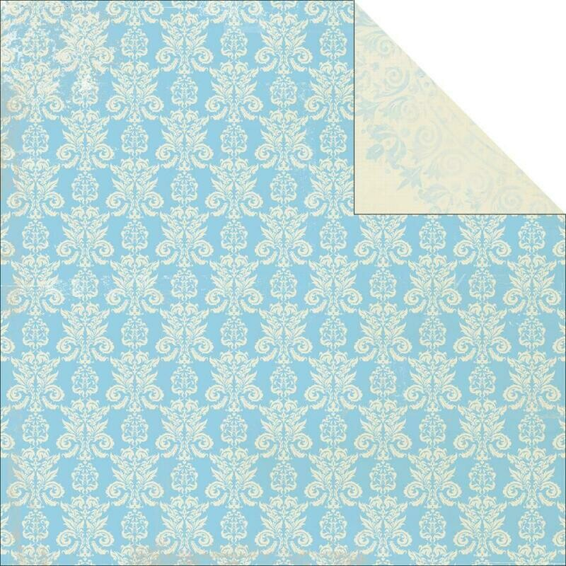 Field- Blae and Ivy Collection- double sided paper 12 x 12