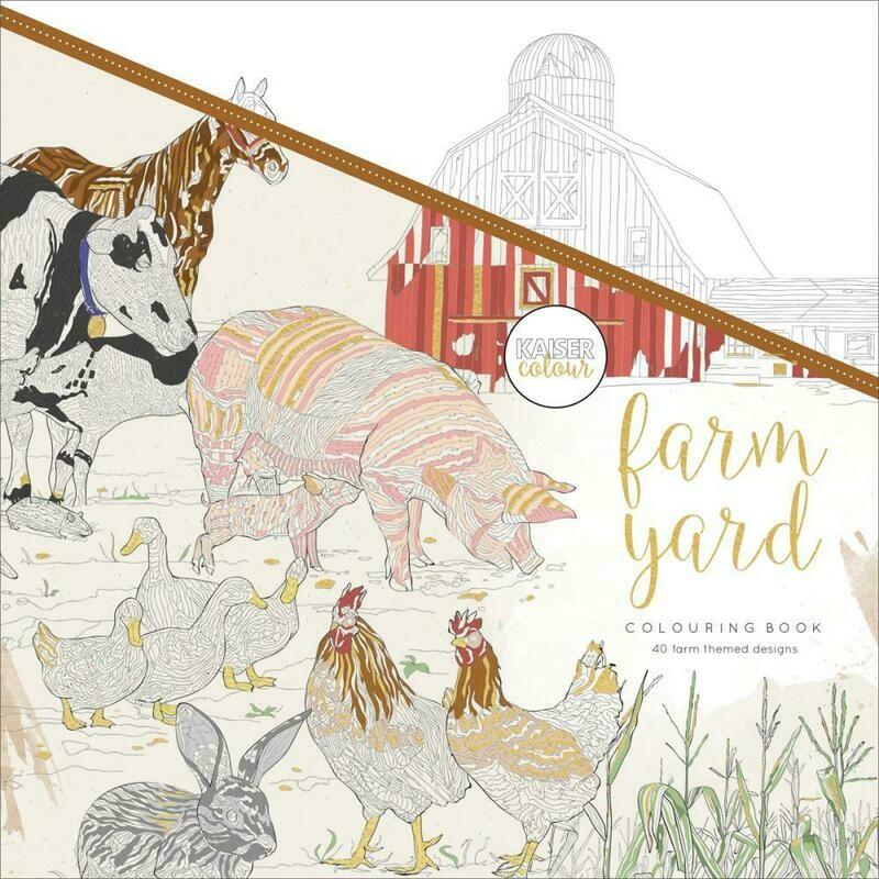 Farm Yard Adult Coloring Book