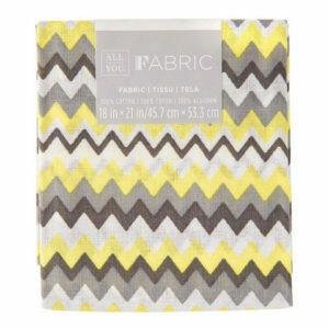 Fabric Fat Quarter- Yellow Chevron 18