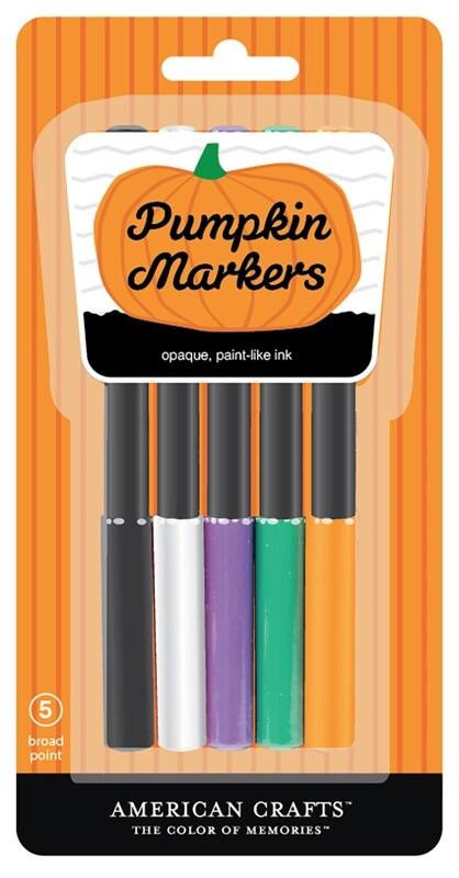 Pumpkin Marker Set Opaque (5 Markers)