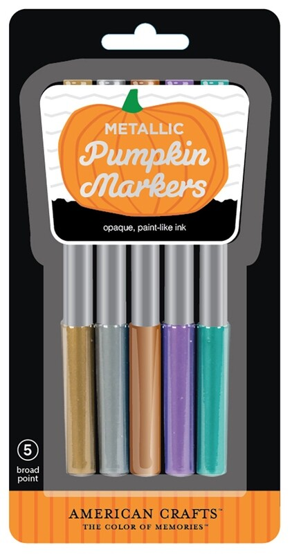 Metallic Pumpkin Marker Set (5 Markers)