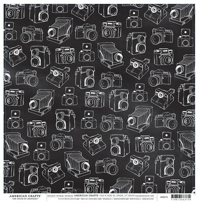 Antique Cameras Paper 12 x 12- 2 sided