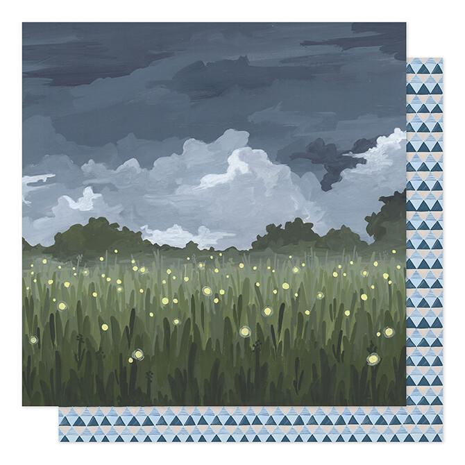 Fireflies In The Garden Paper 12 x 12- 2 sided