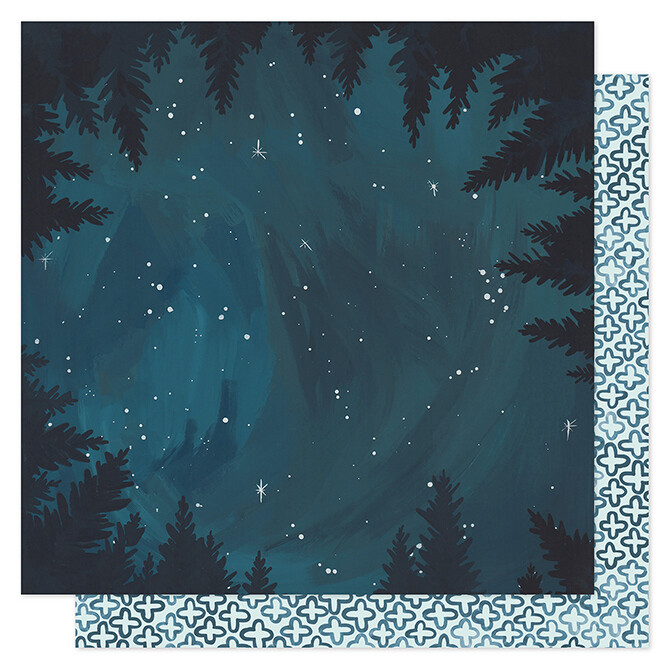 Midnight Forest Paper 12 x 12- 2 sided