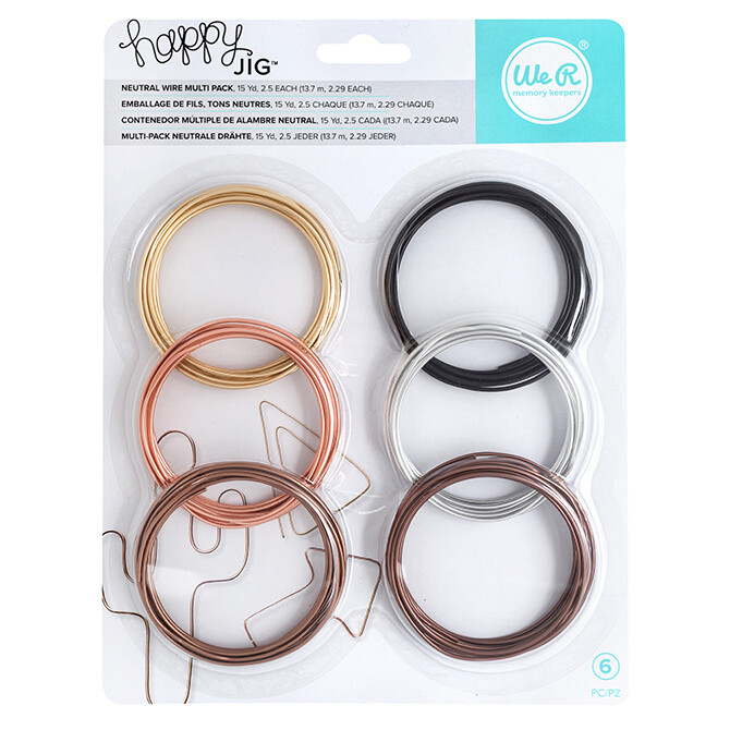 Happy Jig Accessory Wire Pack of 6- 15 Yards- 2.5 yards each- Neutral