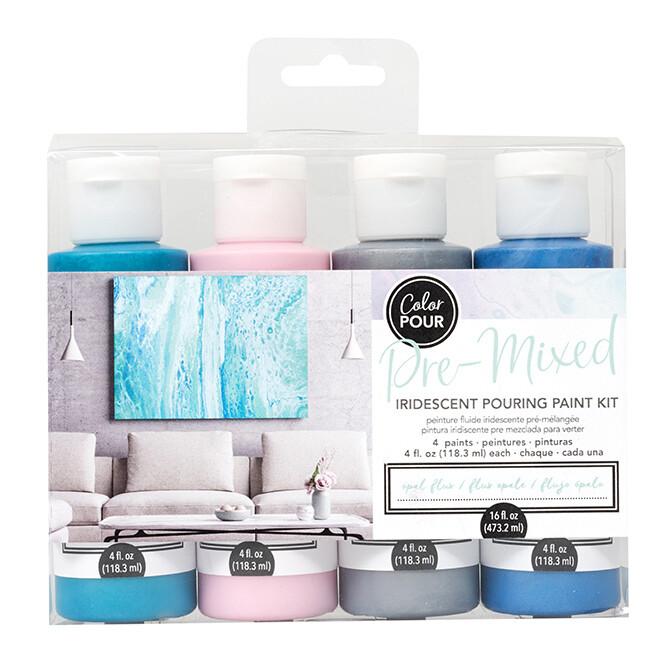 Pre-Mixed Pouring Paint Kit- 4 paints