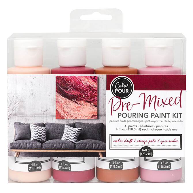 Pre-Mixed Pouring Paint Kit- 4 paints