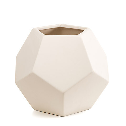 Ceramic Vessel Hexagon Unfinished 6.5 inch