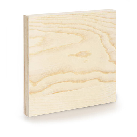 Unfinished Wood Wall Panel 8 x 8 x 1