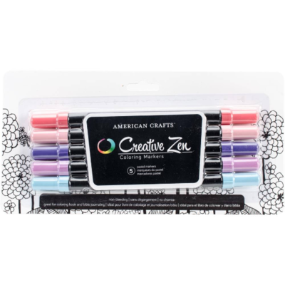 American Crafts Color book Coloring Markers- 5 pack Pastel