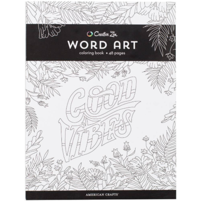 American Crafts Word Art Coloring Book