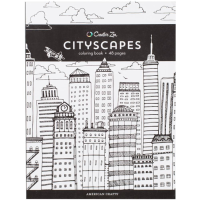 American Craft Cityscapes Color Book