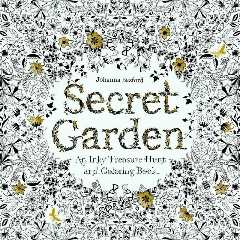 Secret Garden- Chronicle Books Coloring Book