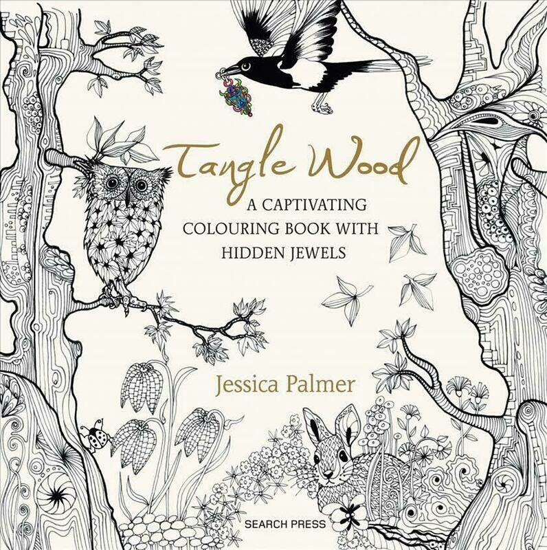 Tangle Wood Adult Coloring Book