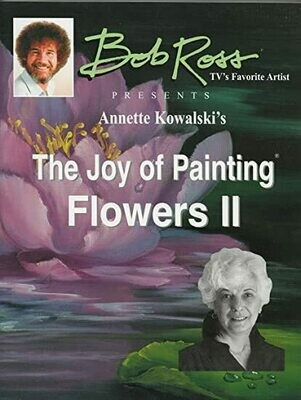Bob Ross Book The Joy of Painting- Flowers II