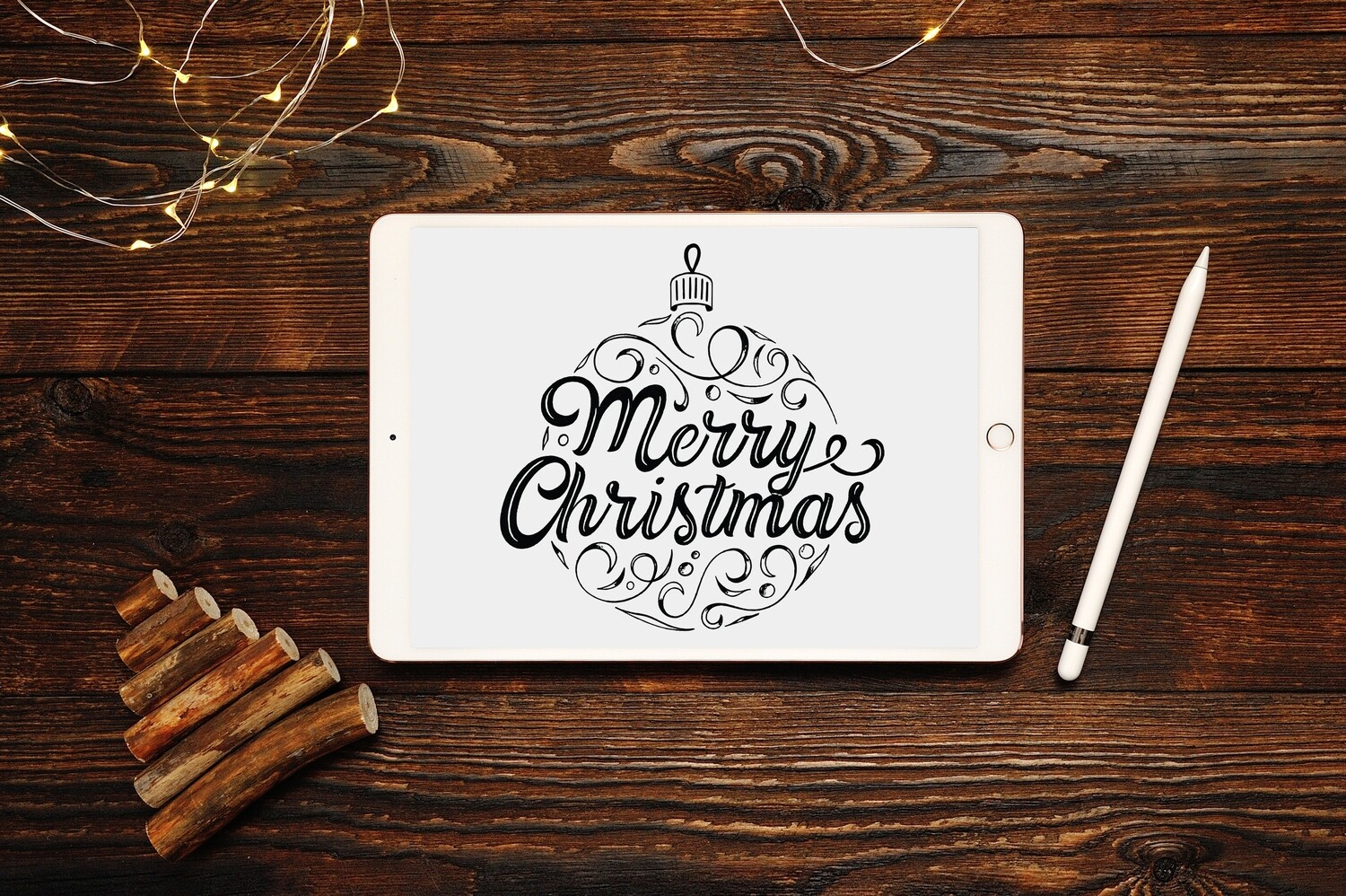 Merry Christmas Ornament Clipart Design - SVG & PNG - Personal and Commercial Use
