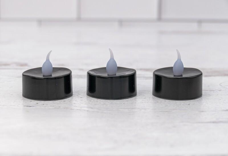 Black Tea Light LED Candles Set of Three