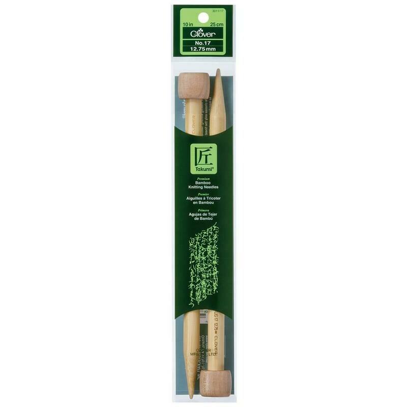 10 Inch Bamboo Knitting Needles Size 17