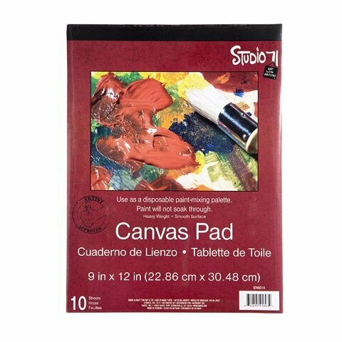 Studio 71 Canvas Paper Pad - Heavy Weight - Medium Surface - 9 x 12 inches
