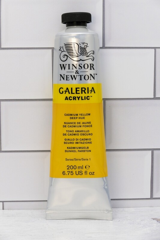 Winsor & Newton Galeria Acrylic 200 ml tube Cadmium Yellow Dp Hue