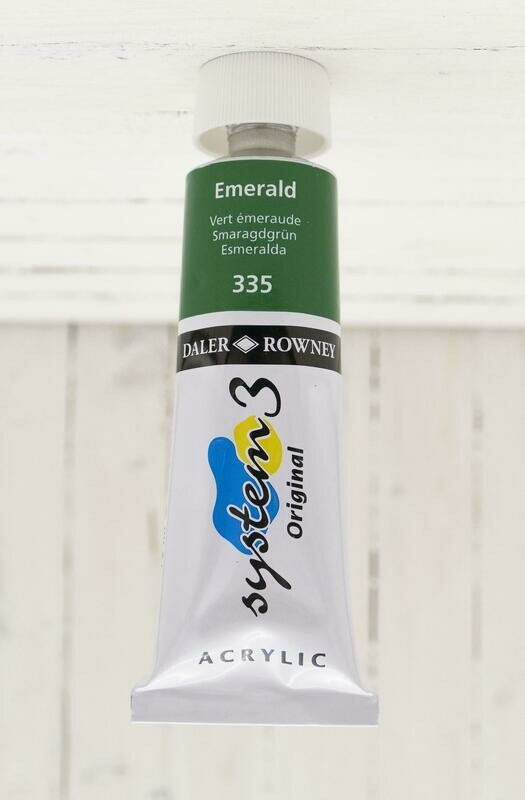 Daler-Rowney System 3 Original Acrylic - 75 ml Tube - Emerald