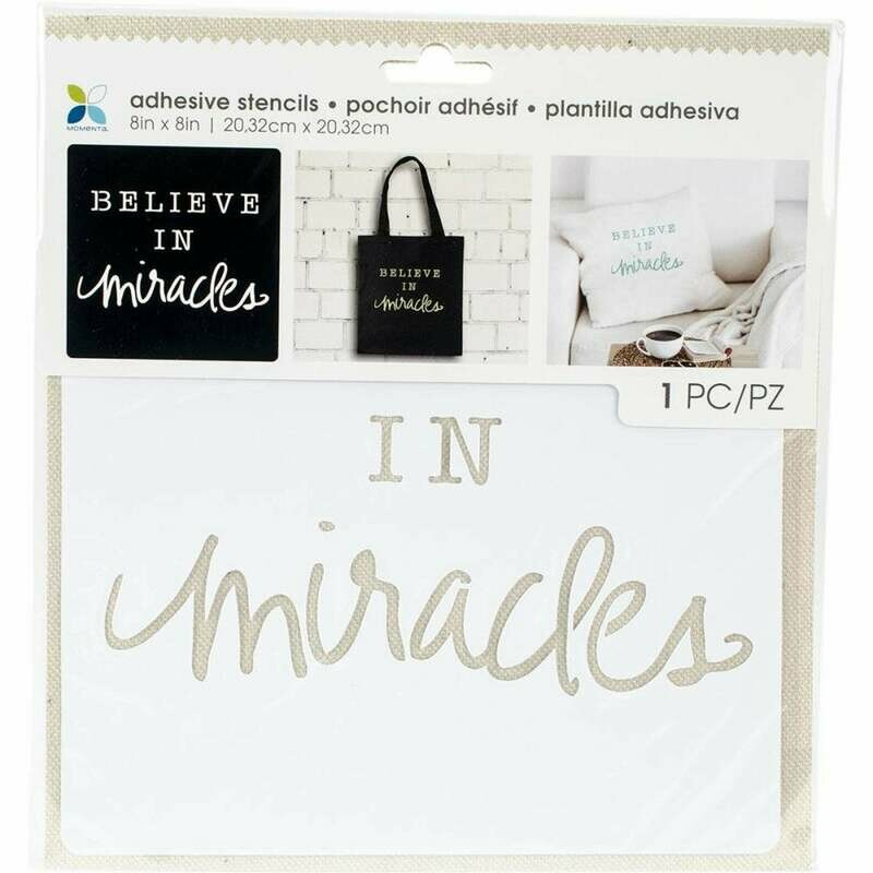 Believe in Miracles Adhesive Stencil 8 x 8
