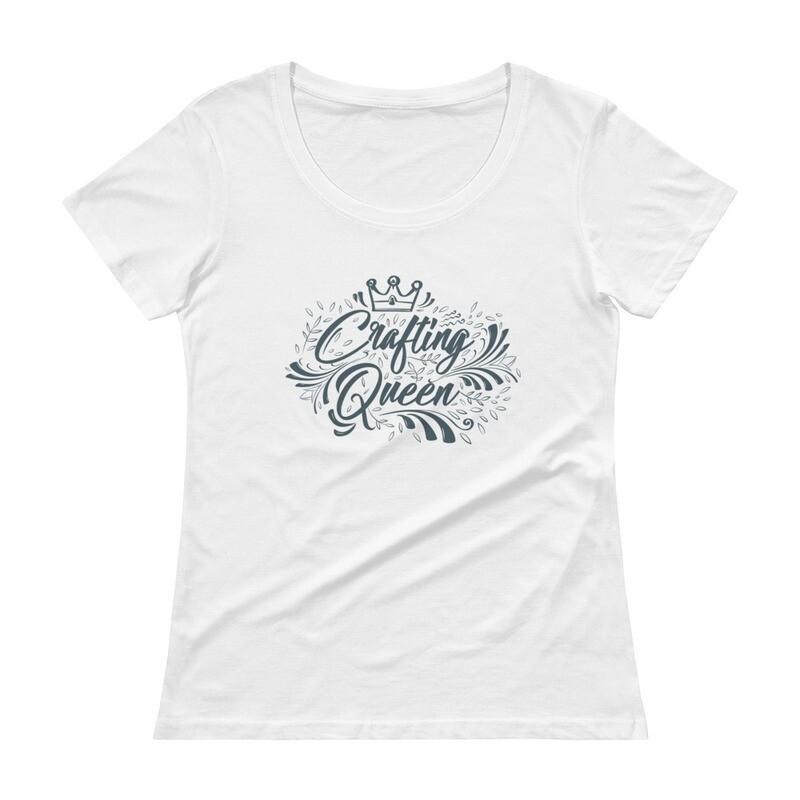 Crafting Queen Ladies' Scoopneck T-Shirt