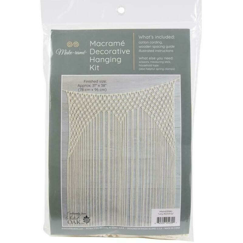 Lacy Backdrop Macrame Decorative Hanging Kit